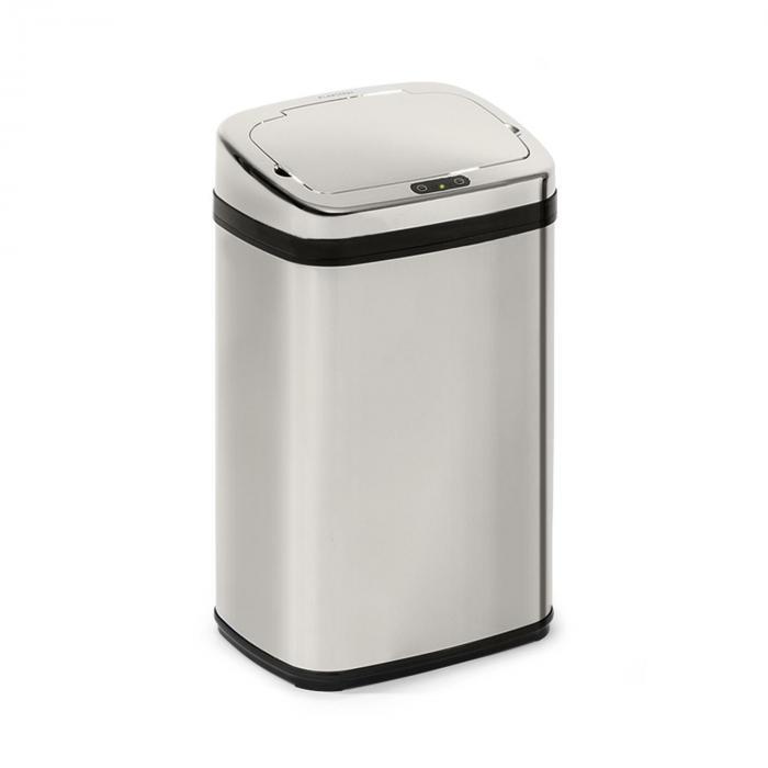Klarstein Cleansmann 30, kosz na śmieci, czujnik, 30 litrów, na worki na śmieci, ABS, chromowany