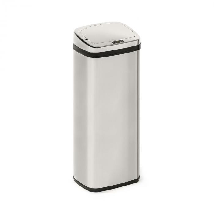 Klarstein Cleansmann, kosz na śmieci, czujnik, 50 litrów, na worki na śmieci, ABS, chromowany