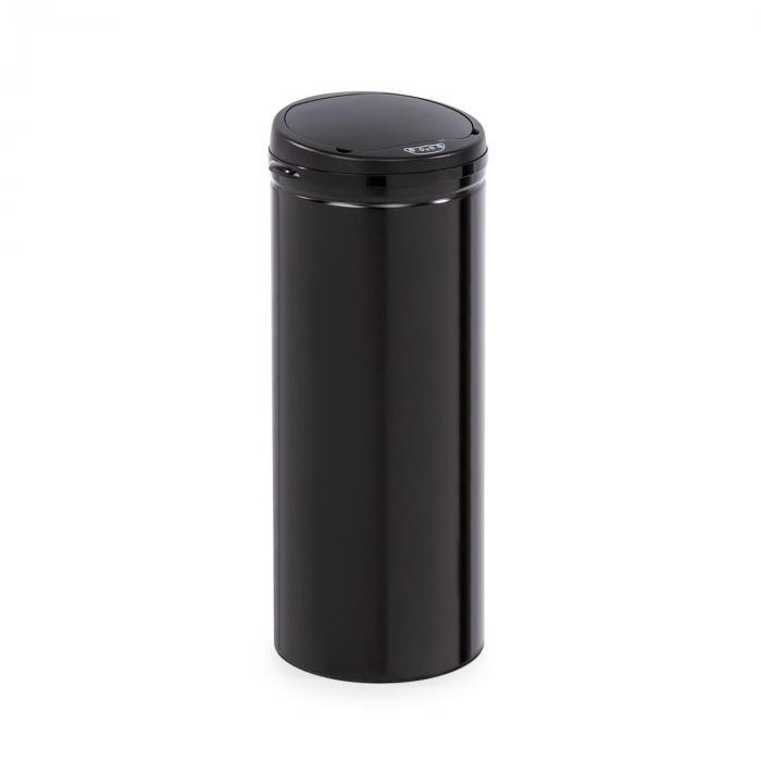 Klarstein Cleanton, kosz na śmieci, okrągły, czujnik, pojemność 50 litrów, do worków na śmieci, ABS, czarny