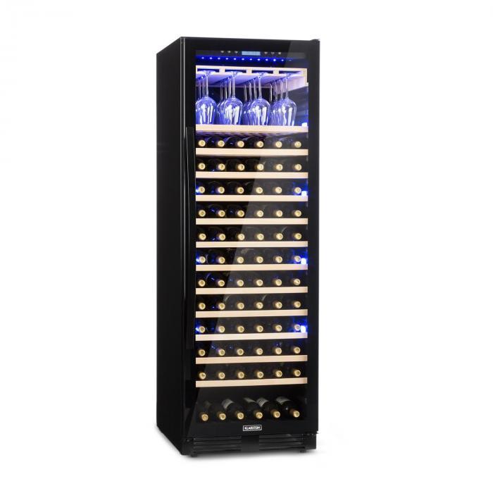 Klarstein Vinovilla Onyx Grande stort-vinkylskåp 433l 165 flaskor svart