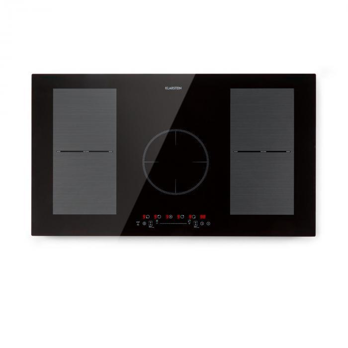 Klarstein Delicatessa 90 Flex, płyta kuchenna do zabudowy, indukcja, 5 stref, 7000 W, czarny