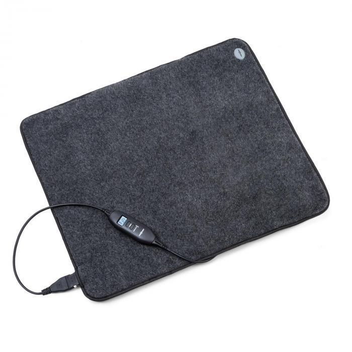 OneConcept Magic Carpet DLX mata grzejna 60 x 70 cm 190W 4 temp. timer antracyt