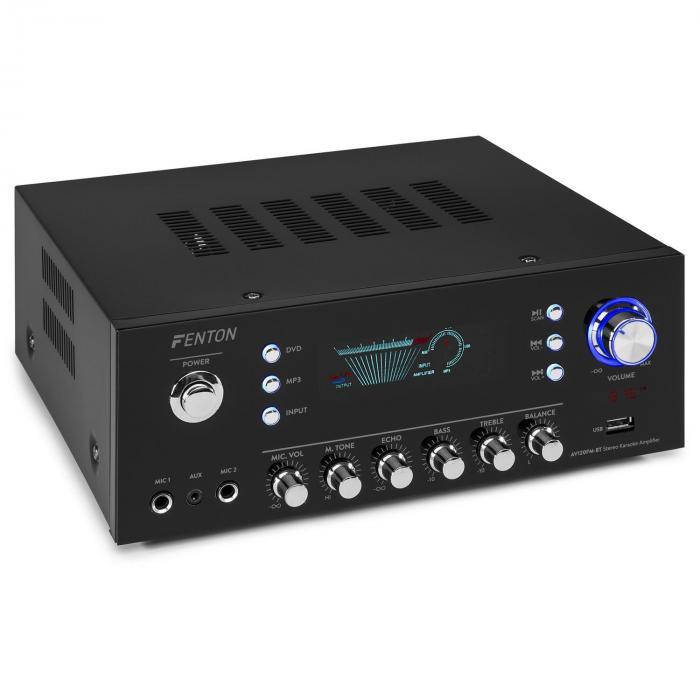 Fenton AV120FM, surround HiFi wzmacniacz, 120 W RMS, 2 x 60 W na 8 Ohm), BT/ USB/AUX