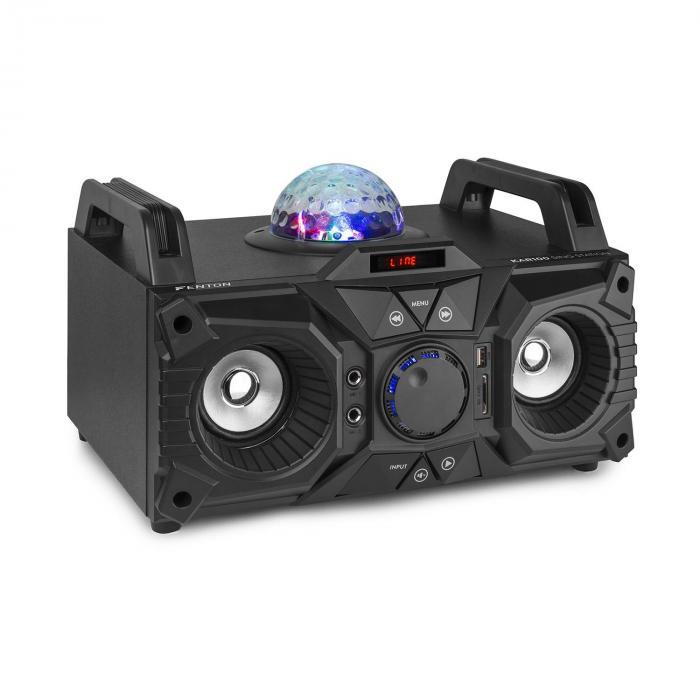 Fenton KAR100, sing station, 100 W, akumulator, USB, bluetooth, AUX wejście, czarna