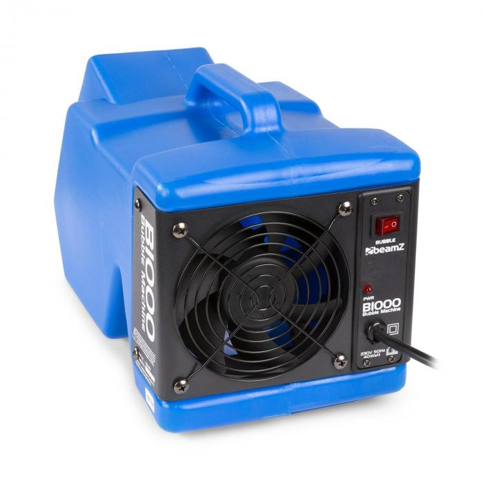 Beamz B1000, maszyna do puszczania baniek, tworzywo sztuczne ABS z uchwytem, 40 W,  niebieski