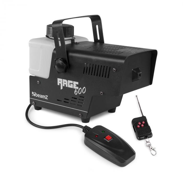 Beamz Rage 600 Maszyna do mgły z pilotem 600W 65m³ / min 0.5l