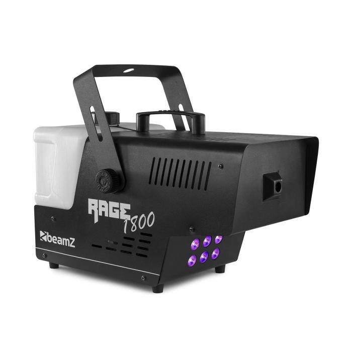 Beamz Rage 1800 LED, wytwornica mgły, 6 diod LED RGBW o mocy 4 W, 530 m3/min, 3,5 l pojemności, 1800 W