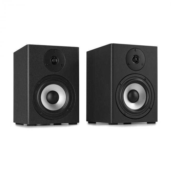 Vonyx SM50 Zestaw głośnikowy monitorów studyjnych 140 W maks. głośniki 2-drożne, czarny