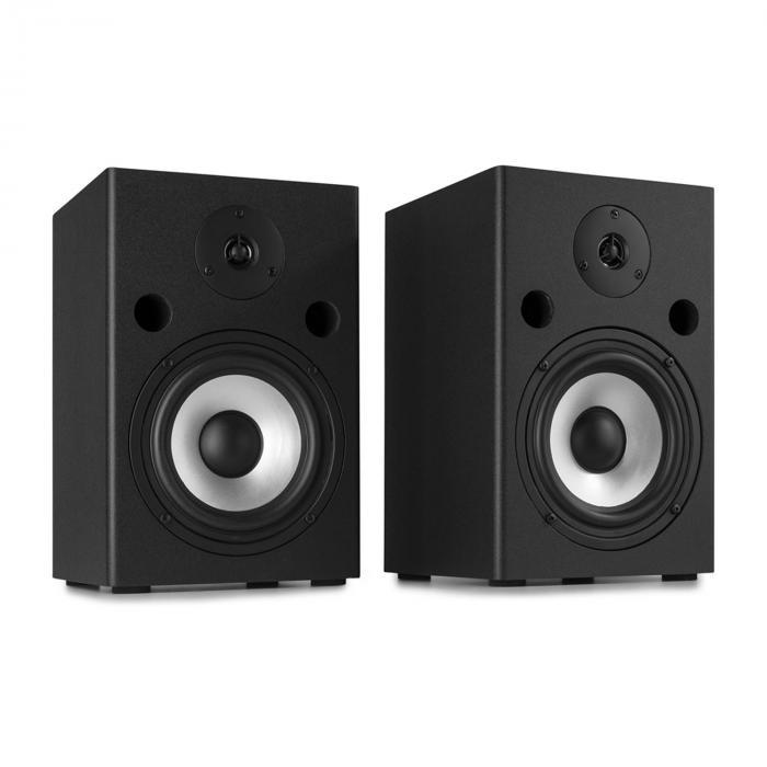 Vonyx SM65 Zestaw głośnikowy monitorów studyjnych 180 W maks. głośniki 2-drożne, czarny