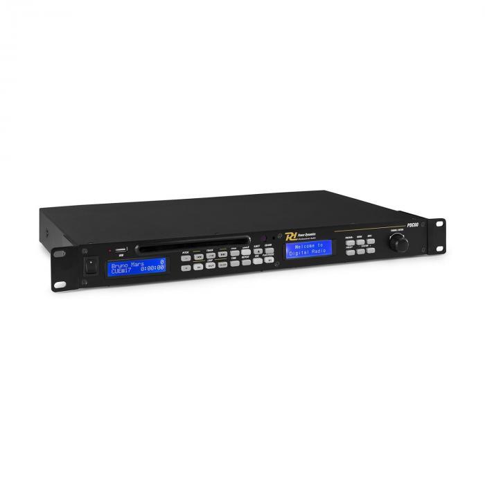 Power Dynamics PDC-60, odtwarzacz USB/CD, DAB+/UKF, MP3, pilot zdalnego sterowania, kolor czarny