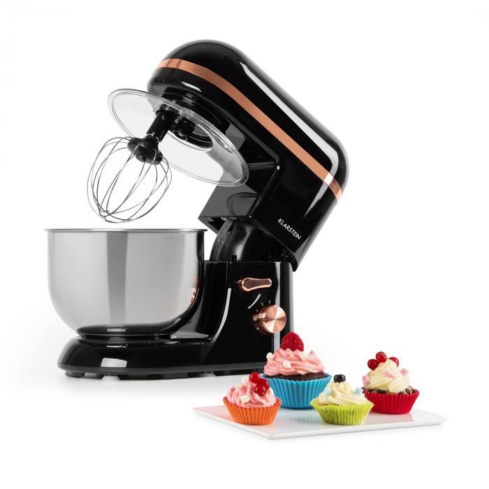 Klarstein Bella Elegance, robot kuchenny, 1300 W, 1,7 HP, 6 stopni, 5 litrów, czarny