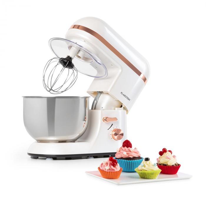 Klarstein Bella Elegance, robot kuchenny, 1300 W, 1,7 HP, 6 stopni, 5 litrów, biały