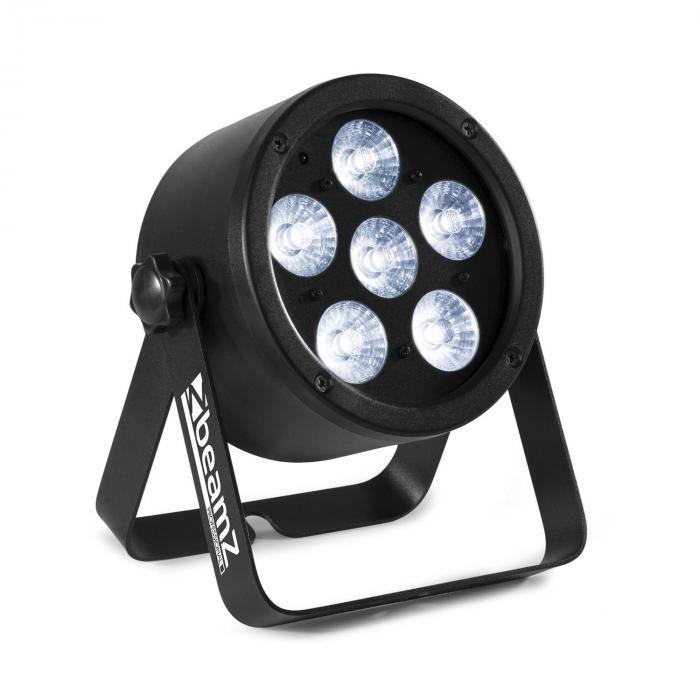 Beamz Professional BAC300 ProPar, projektor, 6 diod LED 4 w 1 8 W, RGBW, ściemniacz, pilot zdalnego sterowania