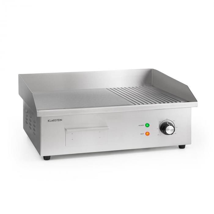 Klarstein Grillmeile 3000GR, grill elektryczny, 54,5 x 35 cm, gładki/ryflowany, 3000 W