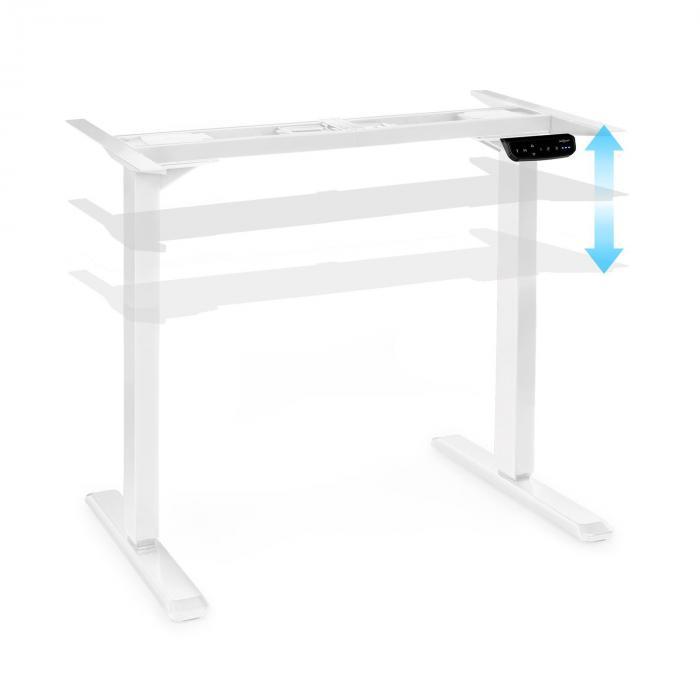 OneConcept Multidesk Comfort, biurko z elektryczną regulacją wysokości, wysokość 62–128 cm, białe
