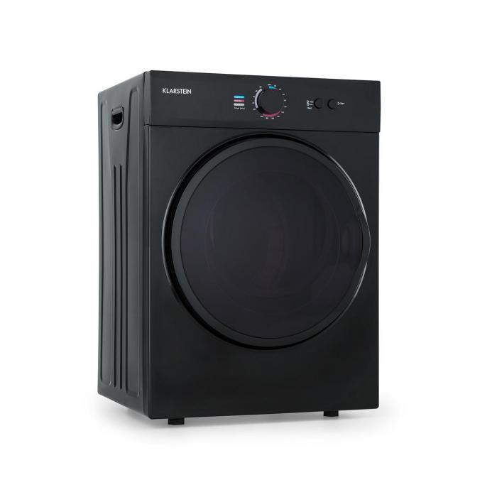 Klarstein Jet Set, suszarka do ubrań, 1020 W, klasa energetyczna C, 3 kg, 50 cm, czarna