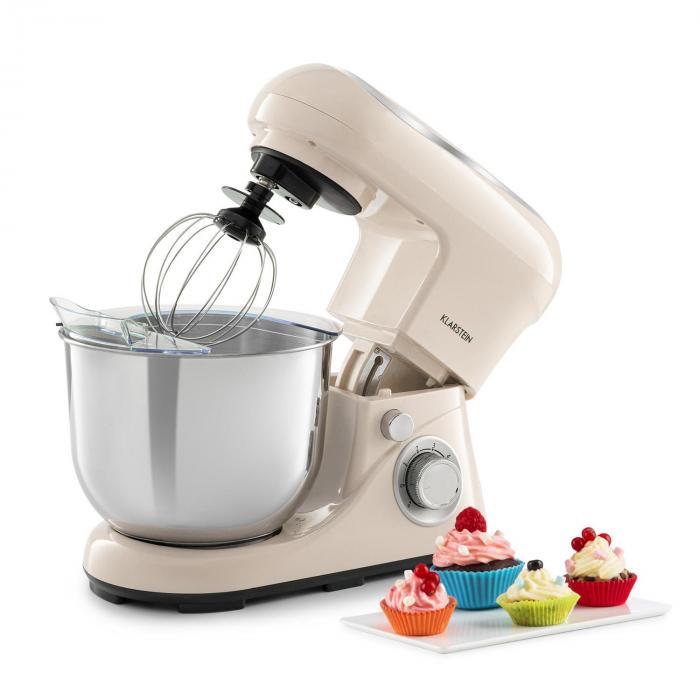 Klarstein Bella Pico 2G, robot kuchenny, 1200 W, 1,6 HP, 6 stopni, 5 litrów, kremowy