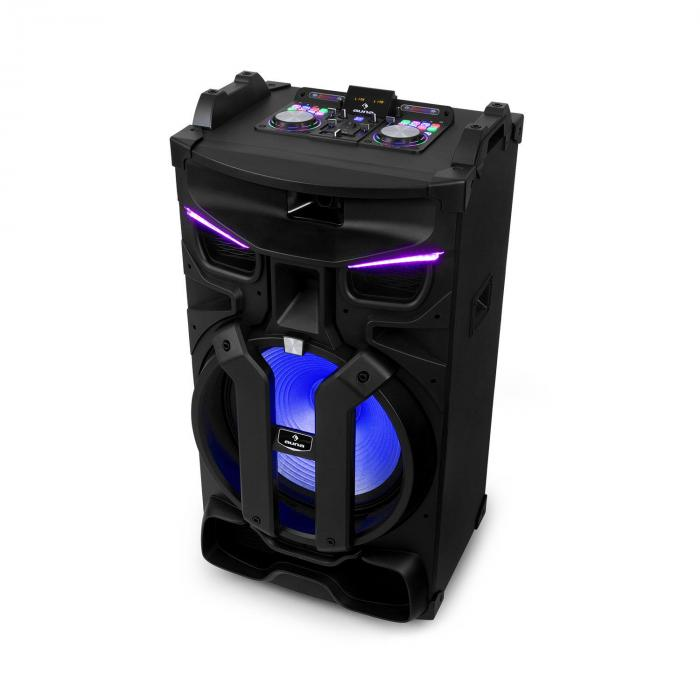 Auna Silhouettes, zestaw audio na imprezy, 18-calowy głośnik, USB, SD, Bluetooth, 600 W, czarny