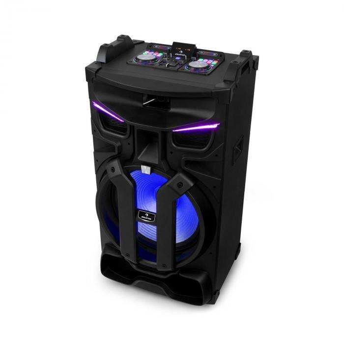 Auna Silhouettes, zestaw audio na imprezy, 15-calowy głośnik,, USB, SD, Bluetooth, 450 W, czarny