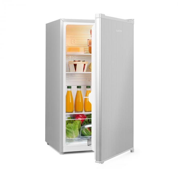 Klarstein Hudson, lodówka, A ++, 88 litrów, przegroda na warzywa, kompresja, srebrna