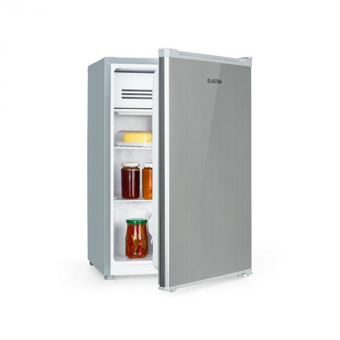 Klarstein Delaware, lodówka, A++, 76 l, 4-litrowa zamrażarka, sprężarkowy system chłodzenia, kolor srebrny/szary