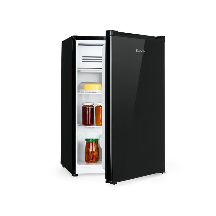 Klarstein Delaware, lodówka, A++, 76 l, 4-litrowa zamrażarka, sprężarkowy system chłodzenia, kolor czarny