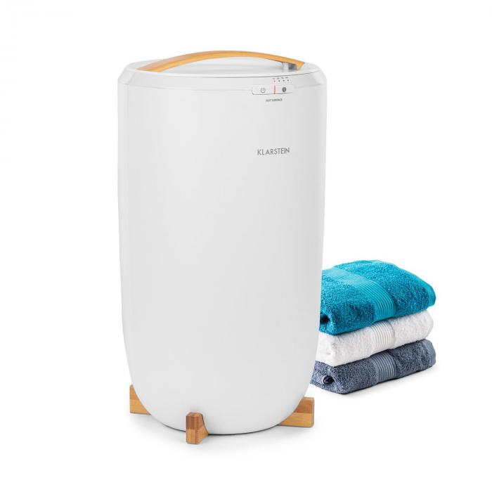 Klarstein Cozy Wonder, podgrzewacz do ręczników, 400 W, 20 litrów, 15/30/45/60 min., kolor biały