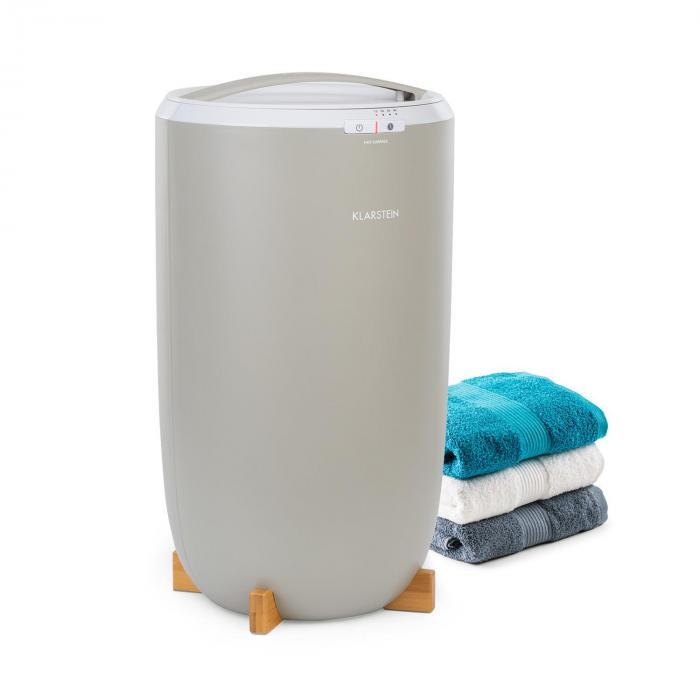 Klarstein Cozy Wonder, podgrzewacz do ręczników, 400 W, 20 litrów, 15/30/45/60 min., kolor szary