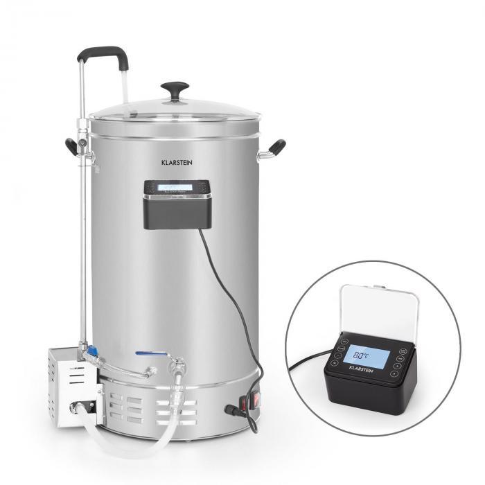 Klarstein Brauheld Pro, kocioł do produkcji brzeczki, 35 l, 2500 W, 30–100°C, pompa cyrkulacyjna, stal szlachetna