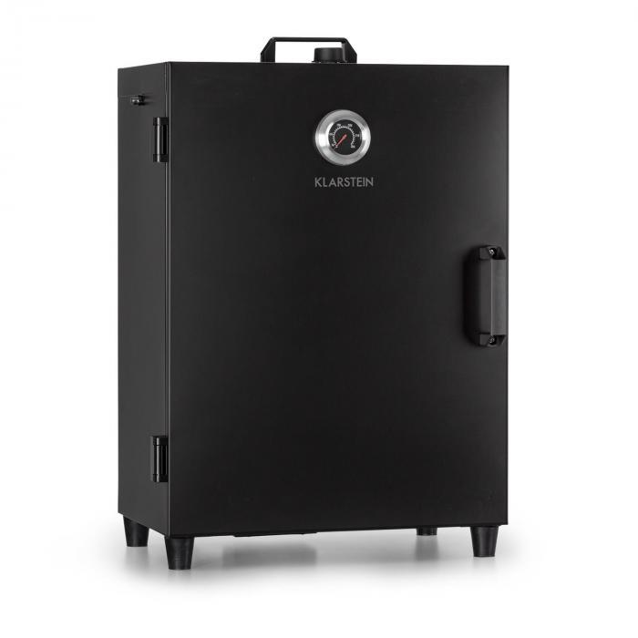 Flintstone -savustusuuni 1600 W lämpömittari ruostumaton teräs musta