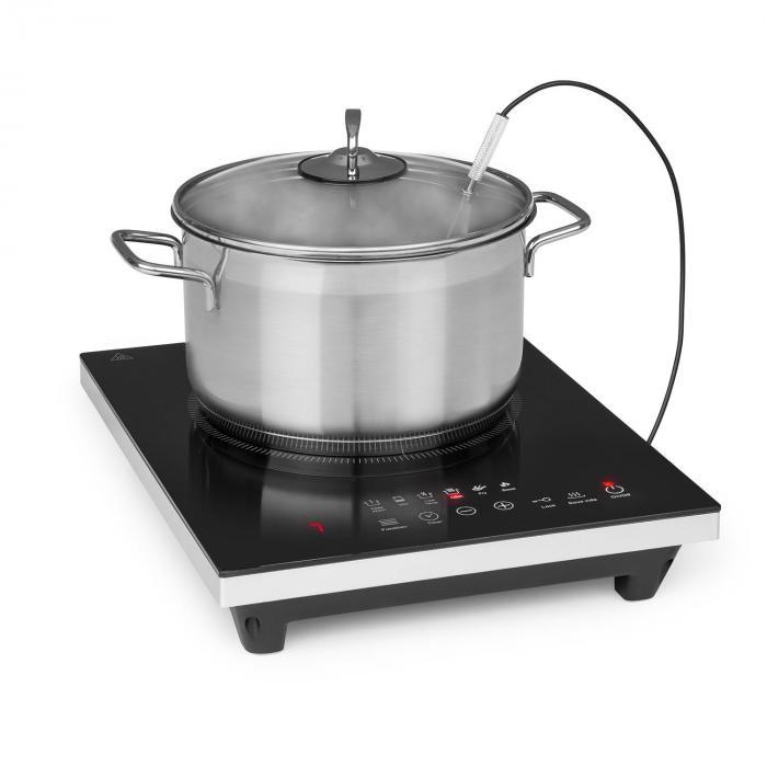 Klarstein Cook n Roll, kuchenka indukcyjna jednopalnikowa, 2000W, 3h-timer, 10 stopni, czarna