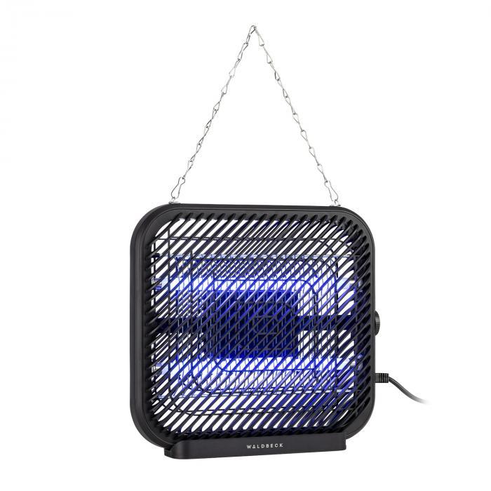 Waldbeck Skyfall SQ, lampa owadobójcza, 16 W, 50 m², diody LED, tacka zbiorcza, łańcuch, czarna