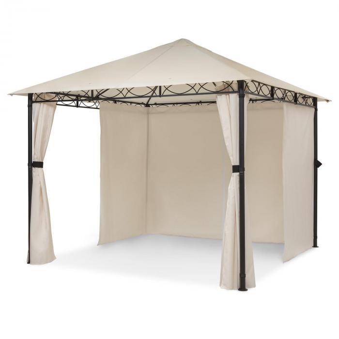 Blumfeldt Mondo, pawilon ogrodowy/namiot imprezowy, 295 x 262 x 295 cm, stal, poliester, beżowy