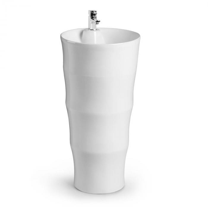 Besoa Grenada umywalka wolnostojąca ceramika materiały mocujące biała