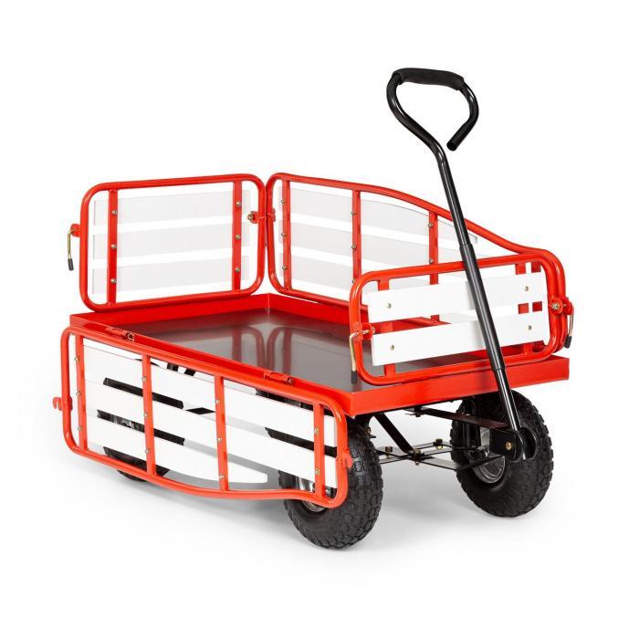Waldbeck Ventura, ręczny wózek transportowy, nośność 300 kg, stal, WPC, czerwony