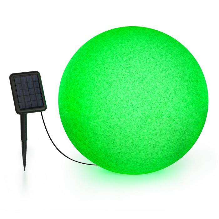 Blumfeldt Shinestone Solar 50, lampa w kształcie kuli, panel słoneczny, śr. 50 cm, RGB-LED, IP68, akumulator
