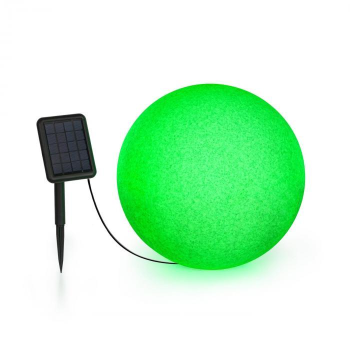 Blumfeldt Shinestone Solar 40, lampa w kształcie kuli, panel słoneczny, śr. 40 cm, RGB-LED, IP68, akumulator