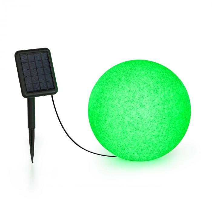 Blumfeldt Shinestone Solar 30, lampa w kształcie kuli, panel słoneczny, śr. 30 cm, RGB-LED, IP68, akumulator
