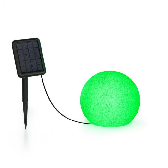 Blumfeldt Shinestone Solar 20, lampa w kształcie kuli, panel słoneczny, śr. 20 cm, RGB-LED, IP68, akumulator