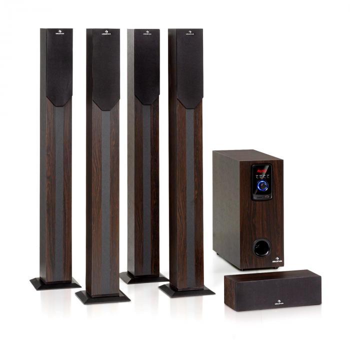 Auna Areal Elegance, 5.1-kanałowy system audio surround, 190 W RMS, Bluetooth, USB, SD, AUX
