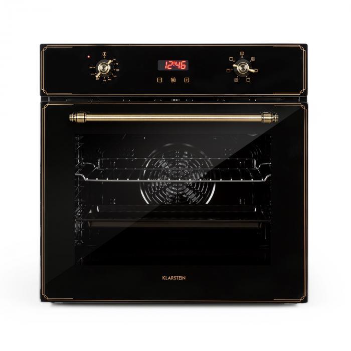 Klarstein Elizabeth, piekarnik do zabudowy, stylistyka retro, 6 funkcji, 50–250°C, czarny