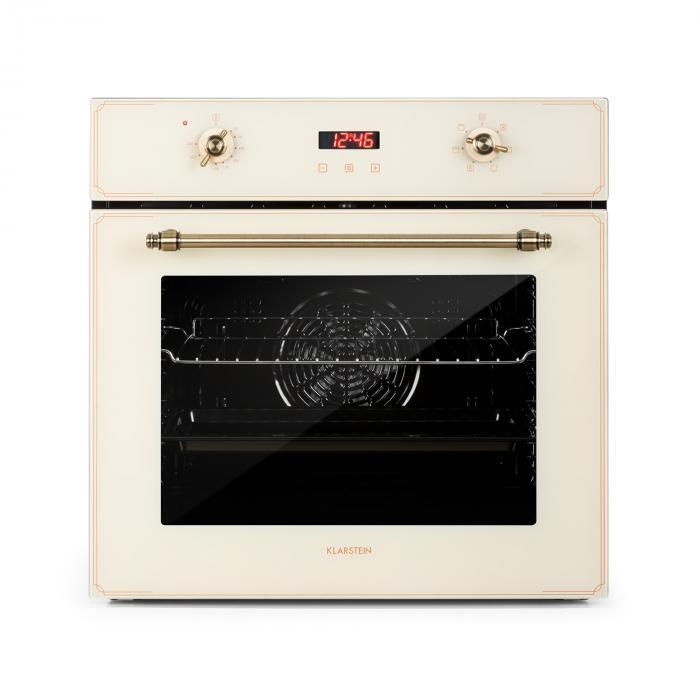Klarstein Elizabeth, piekarnik do zabudowy, stylistyka retro, 6 funkcji, 50–250°C, kremowy