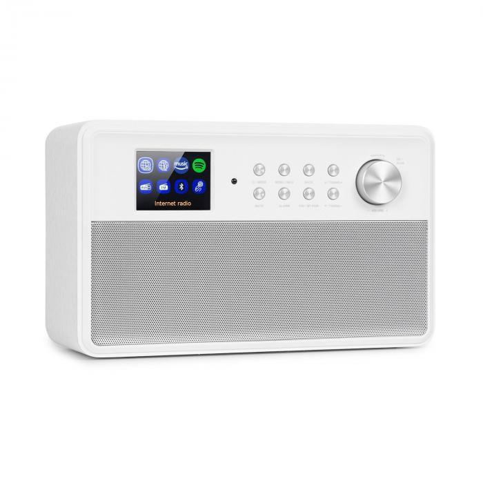 """Auna Connect Link, inteligentne radio, IR/DAB+/FM, Spotify, BT, wyświetlacz HCC 2,4"""", białe"""