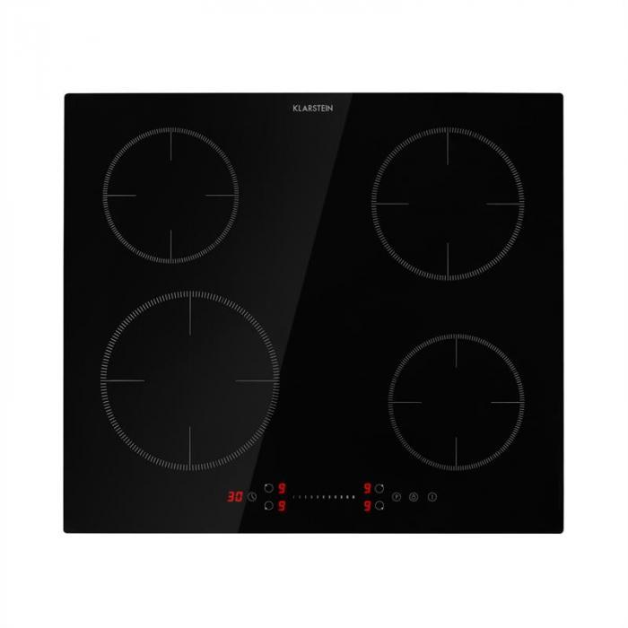 Klarstein Virtuosa EcoAdapt, indukcyjna płyta kuchenna, 4 strefy, 7200 W, szkło, czarna