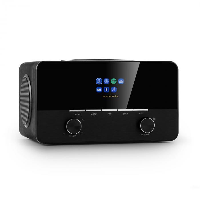 Auna Connect 150 SE, radio internetowe 2.1, DAB/DAB+/PLL-UKF, Spotify, Bluetooth, czarne