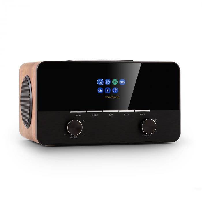 Auna Connect 150 SE, radio internetowe 2.1, DAB/DAB+/PLL-UKF, Spotify, Bluetooth, orzech włoski