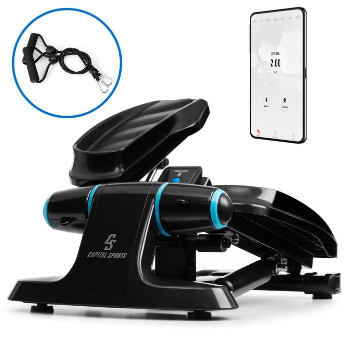 Capital Sports Galaxy Step, ministepper, pedały wysokiej jakości, wyświetlacz LCD, aplikacja, niebieski
