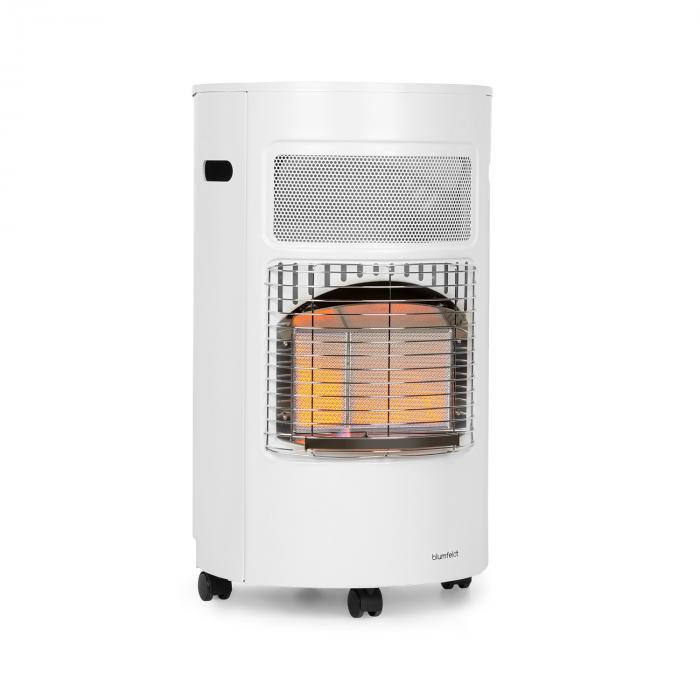 Blumfeldt Bonaparte, grzejnik gazowy, 4200 W, zapłon elektryczny, kółka, biały