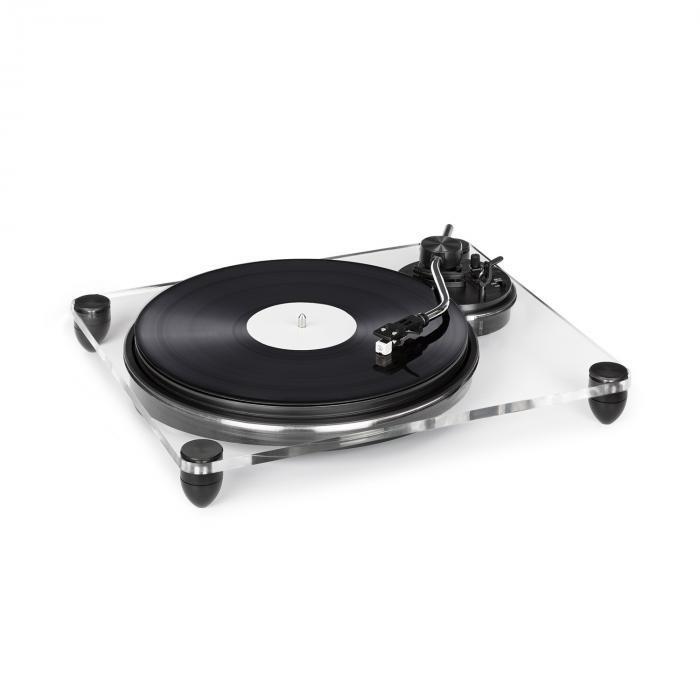 Auna Pureness, gramofon, szkło akrylowe,, 33 1/3 + 45 obr./min, przedwzmacniacz, przezroczysty