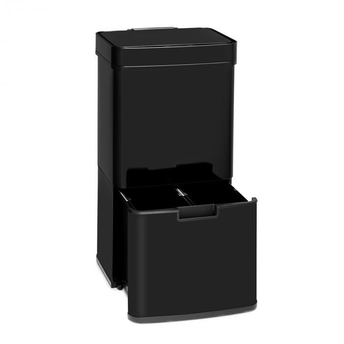 Klarstein Touchless Black Stainless Steel, kosz na śmieci, czujnik, 72 l, czarny